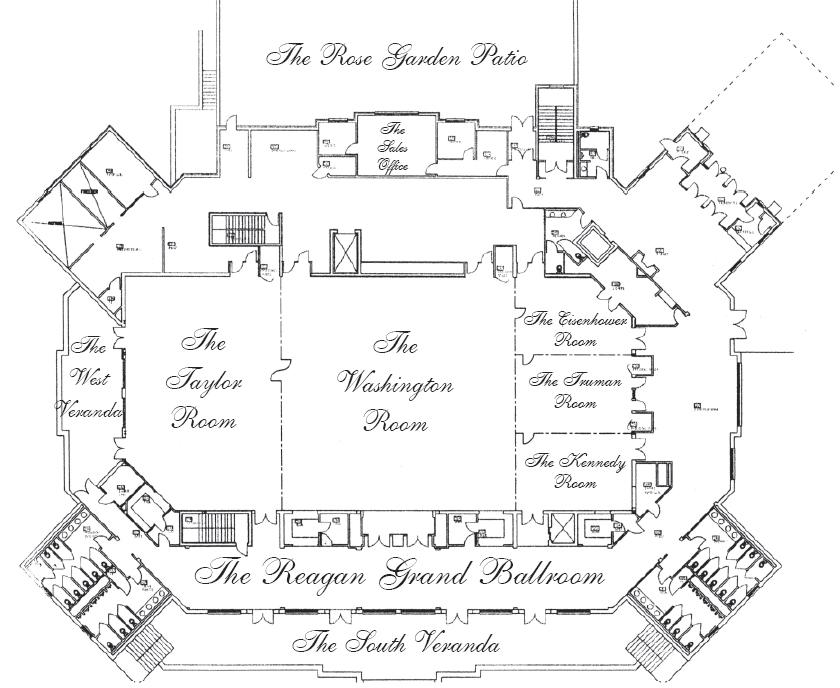The floorplan of the clubhouse at Bolingbrook Golf Club