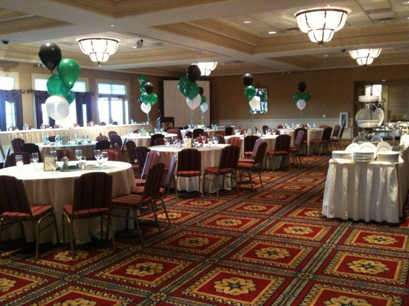 One of the event rooms at Bolingbrook Golf Club is set up for a special event